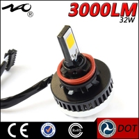 factory price 32W 3000lm brightness white LED headlight bulbs lamp for car lighter