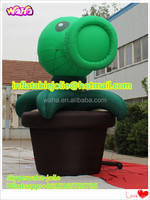Plants VS zombie,Customized 5m/16ft tall computer game inflatable/cartoon inflatable/plants/inflatable peashooter HK03