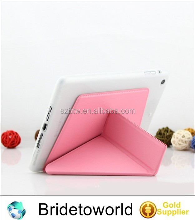 For ipad 5 Stand Folded Case And Cover For ipad 5 Book Cover Case
