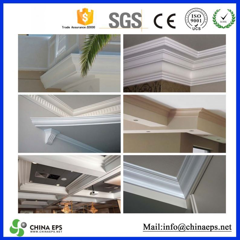 Variety Of fiber Reinforced Polymer plaster cornice designs concrete GFRC