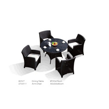 Hot selling outdoor rattan table and chairs set