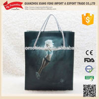 Weekends black shopping plastic bag