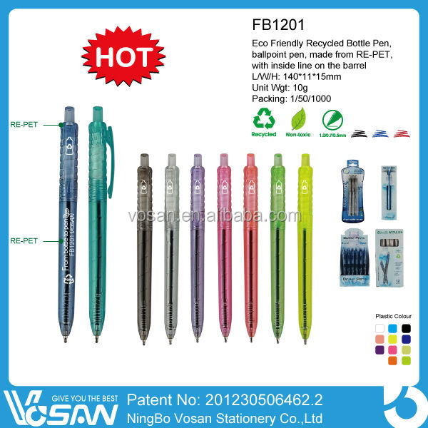 Promotional Recycled PET Pen,Novelty Promotional Eco Friendly PET Bottle Pen
