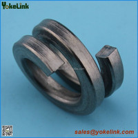Double coil helical spring lock washer
