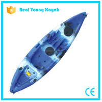 Single China Power Kayak Fishing Boats Plastic Canoe