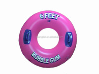 2016 New Product Safety Water Game Inflatable Pool Float switch Donut Swim Ring Donut Machine