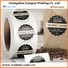 small Round pvc printing label of qc pass label and strong permanent stickers