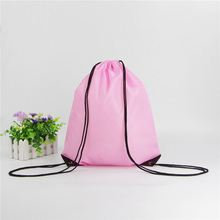Fashionable cheap customized printed promotional polyester drawstring backpack