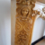 Hand Carved Antique Beautiful Flower Yellow Marble Fireplace