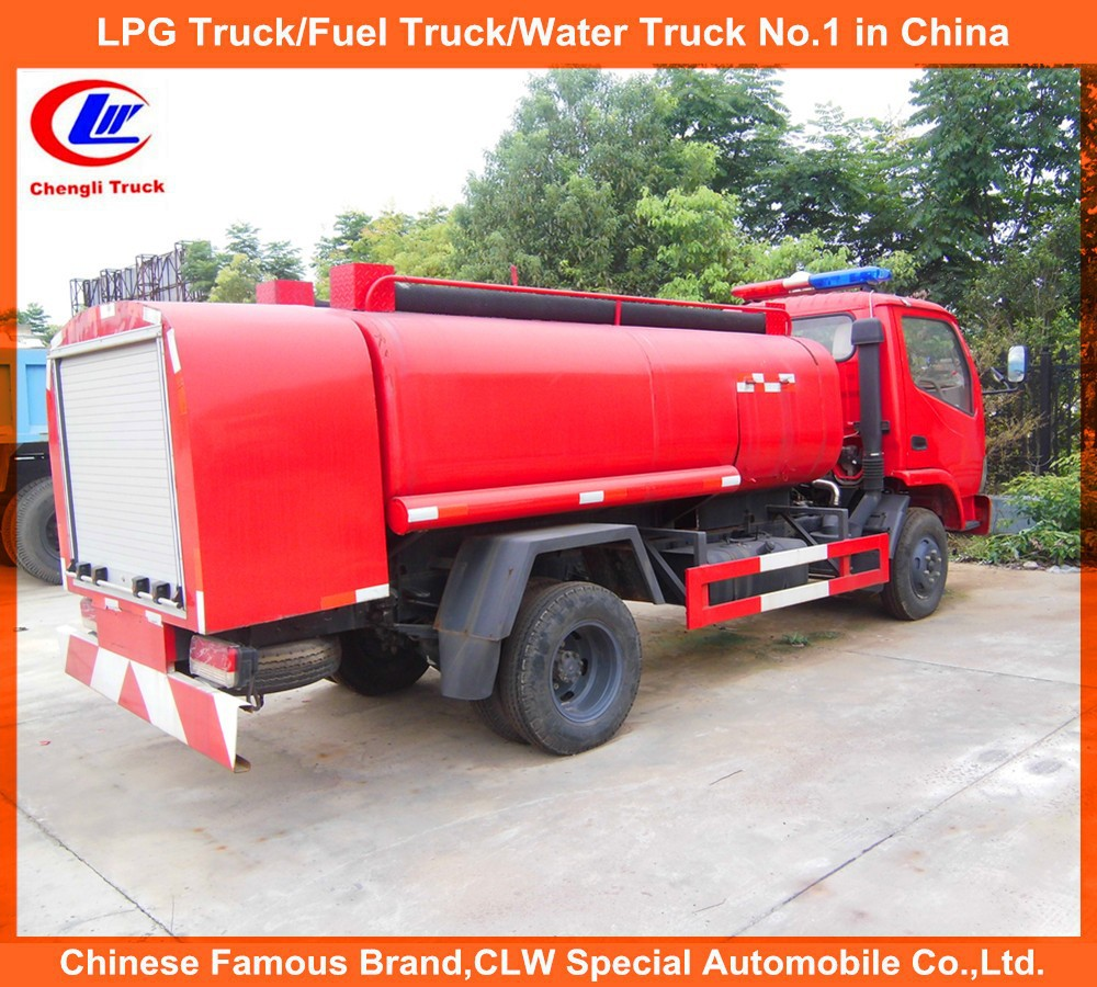 6 wheel 4*2 Mobile Small Fire Truck Fire fighting truck fire fighting water tank truck for Nigeria