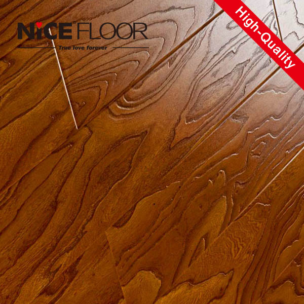 12mm Thick Class 33 Synchronized Surface Registered Embossed HDF Laminate Flooring