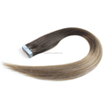 Wholesale PU Skin Weft Top Quality Tape Human Hair Light Brown Remy Double Sided Adhesive Tape Hair