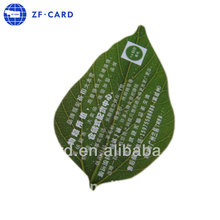 Top grade leaf shaped pvc punch card