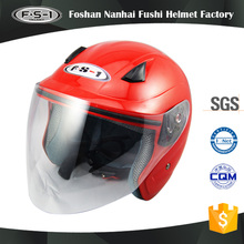 Red color snell open face motor helmet for full face motorcycle helmets image