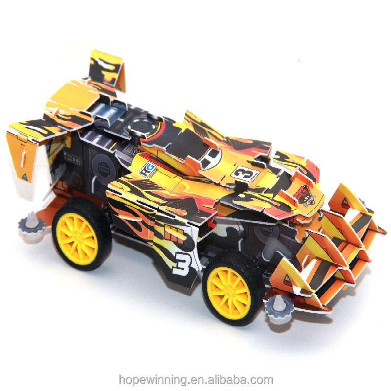 Hot New children toys car plastic movable 3d puzzle for educational games