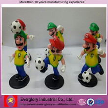 Super Mario plastic football figure toy, small plastic figure toys, mini figure collection