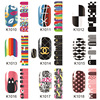 Hot selling nail sticker, custom Christmas design nail polish sticker, cartoon water nail sticker
