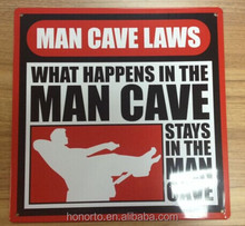 printing man cave flat tin sign