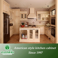 custom white solid wood kitchen cabinet made in china