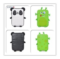 "Custom 9"" zippered pu mini shockproof cute tablet pc case with cartoon embroidered for teen"