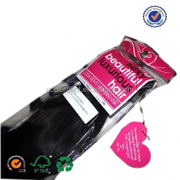 U color professional hair packaging hair bag with tag
