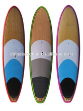 Cheap hotsale colorful bamboo and wooden veneer EPS foam core lightweight surfing paddling board