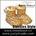 Twin-faced sheepskin baby snow boots High quality Leopard baby shoe
