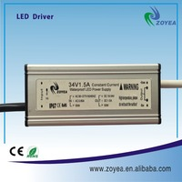 50W meanwell driver 2 years warranty led street light with constant current 1.5a 36v
