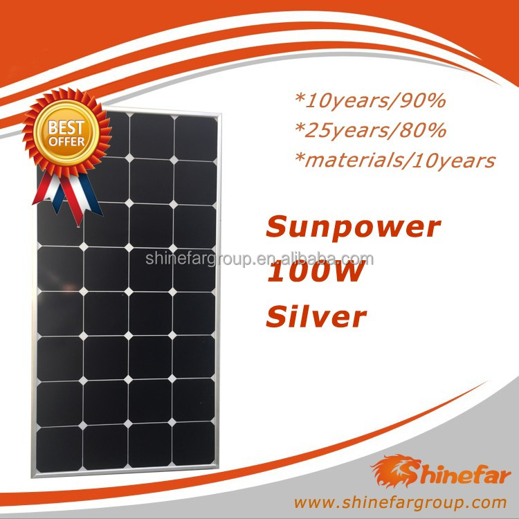 2kw solar system price sunpower solar panel 100W batteries for solar system 5kw