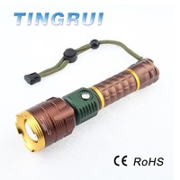 Aluminum alloy housing adjustable zoomable led flexible led flashlight with magnet