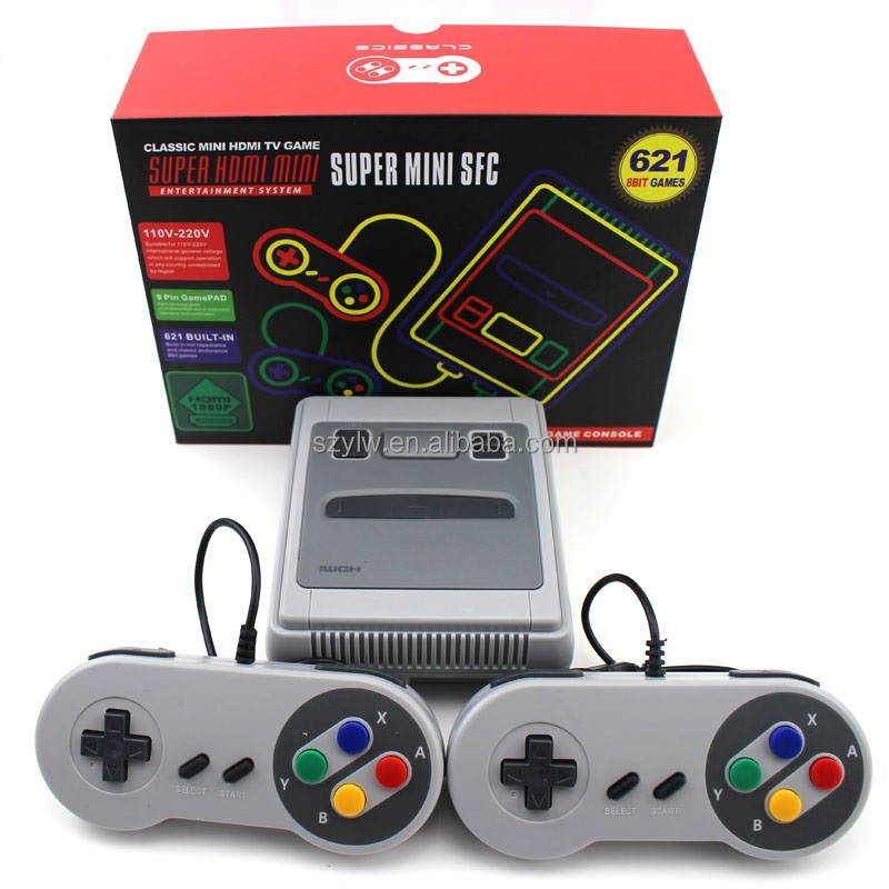 YLW NEW hot Mini handheld retro Built-in 621 games HD portable video game console