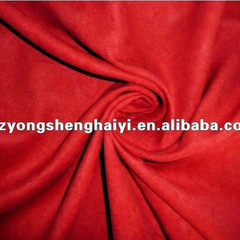 100% polyester faux suede fabric for sofa cover