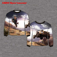 Customize cartoon crew neck sweaters design for kids