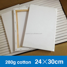 blank stretched artist oil painting canvas 100% 24*30cm 280g pure cotton canvas for oil and acrylic painting