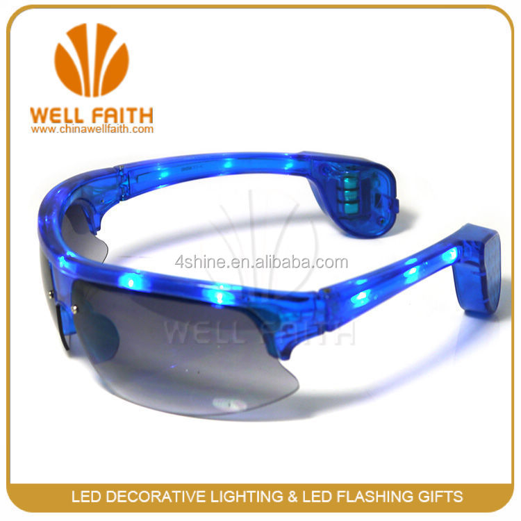 China Wholesale Multicolor LED Hip Hop Celebrity Fashion Shades Blinking LED Sunglasses