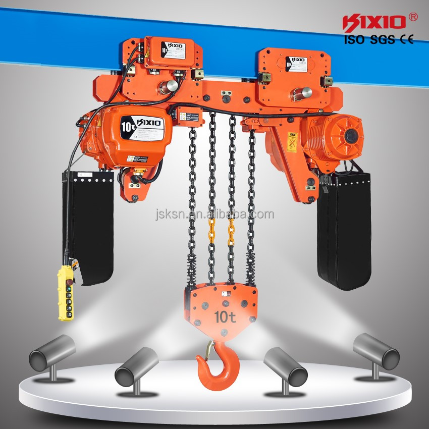 10 ton Trolley type Chain Hoist with Low Noise Crane Motor