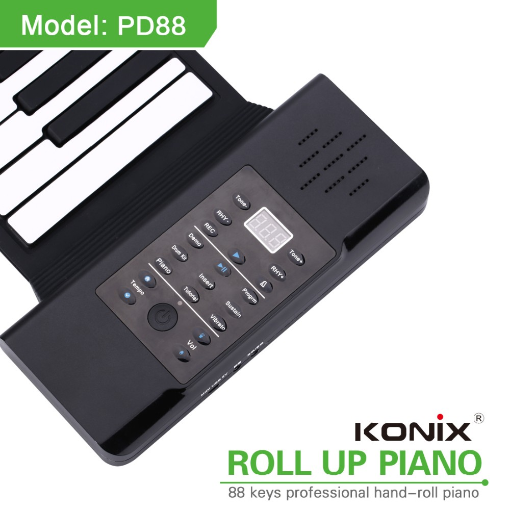 Easy Roll Flexible 88 Keys Piano Electric Toy Roll Up Piano with Speaker MIDI Function