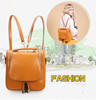 1# Fashionable Cute Genuine Leather Travel Backpack With Portable For Sales