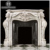 large and elaborately carved Rococo style natural marble mantels fireplace surround