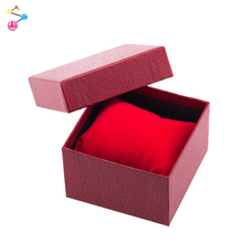 High quality red innoxious flip leather watch box as gift