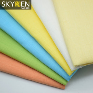 Skygen shirts cloth plain dyed soft woven solid color wholesale french irish italian 100% pure linen fabric for clothes
