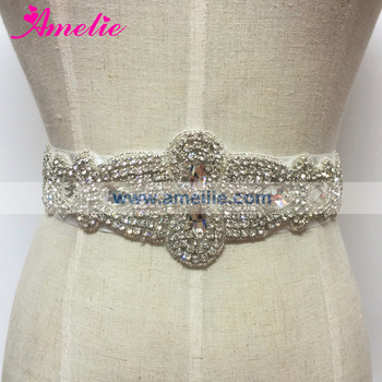 Wedding Garment Accessories Rhinestones Applique Sashes Belt for Prom Dresses