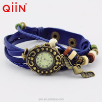 QU0225 best selling fashion leather quartz wrist lady vintage wrist watch for women