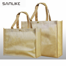 Recycled non woven polypropylene tote shopping bags with custom logo print