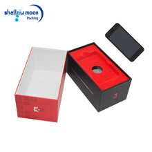 Custom logo printed cardboard sliding white paper boxes vivo sumsung iphone gift box with plastic insert
