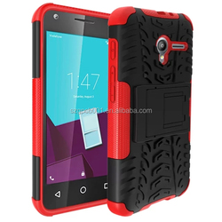 For VODAFONE SMART SPEED6 VF795 Armor CASE Heavy Duty Hybrid Rugged TPU Impact Kickstand ShockProof CASE OUT DOOR CASE