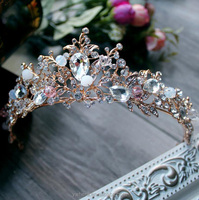 Bridal And Princess Crystal Tiaras Crown Headband For Wedding