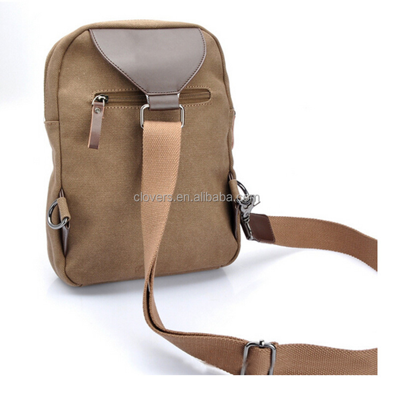 Old style backpack shoulder bag canvas bag