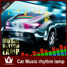 unique car accessories led equalizer sticker car rear window led music lights