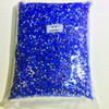 Fancy sapphire AB half round pearl beads for nail art,color AB super shining plastic pearl beads for boutique store